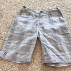 Plaid dress shorts